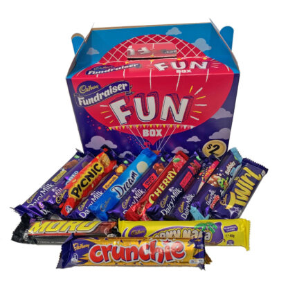 Cadbury Fundraising Chocolates FUN BOX 45 Pack