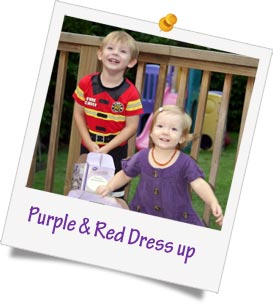 purple red dressup fundraising